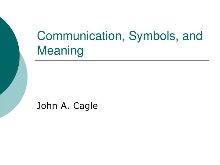 communication symbols and meaning n.