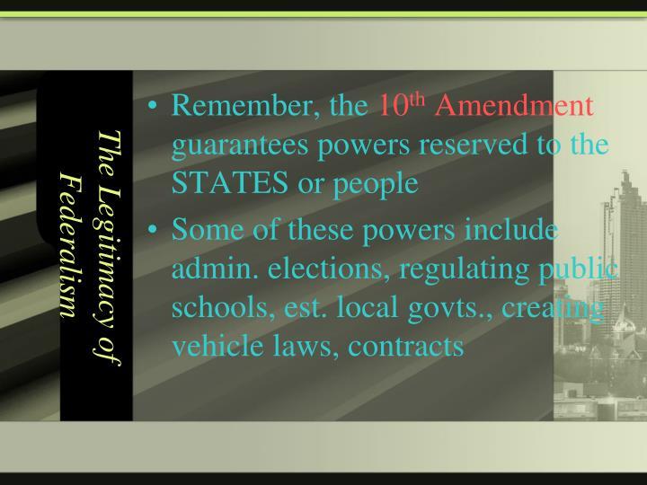 The legitimacy of federalism