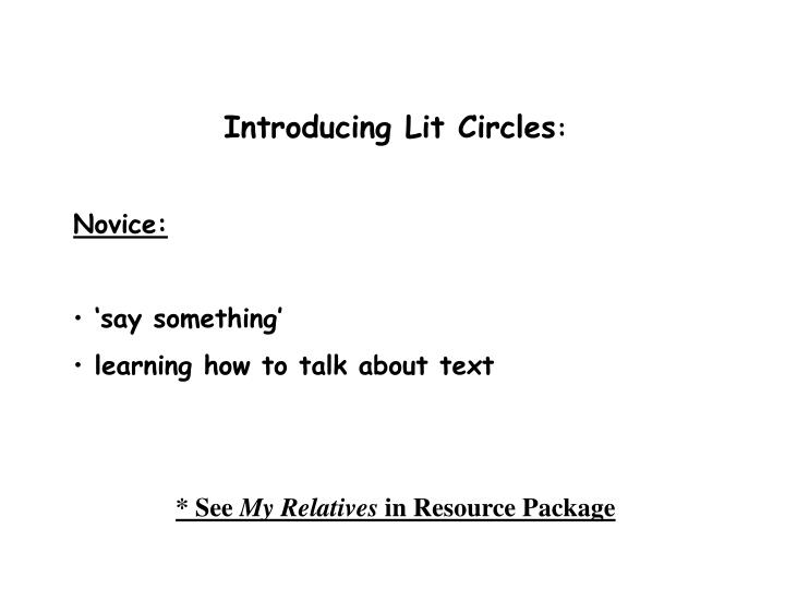 Introducing Lit Circles