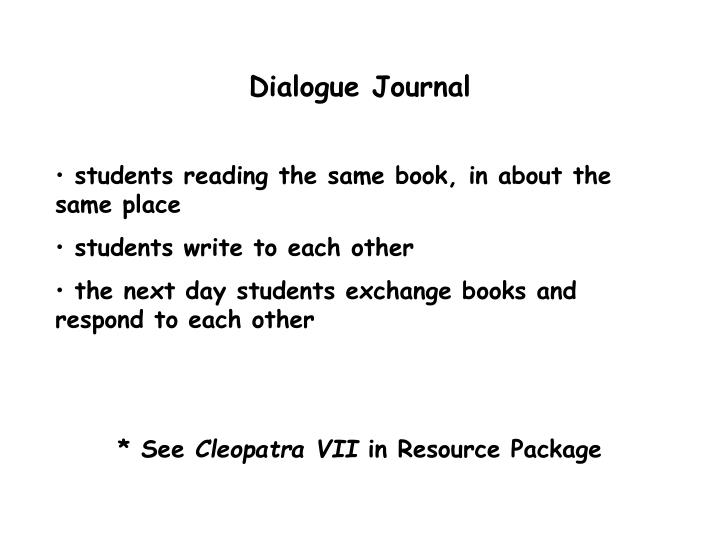 Dialogue Journal