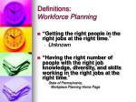 definitions workforce planning