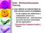 enter workforce succession planning