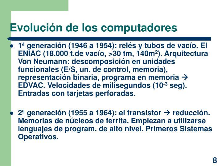 Evolución de los computadores