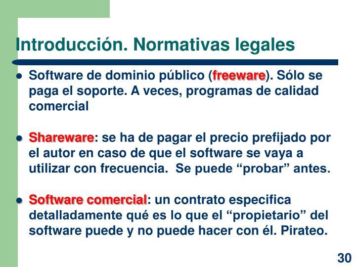 Introducción. Normativas legales