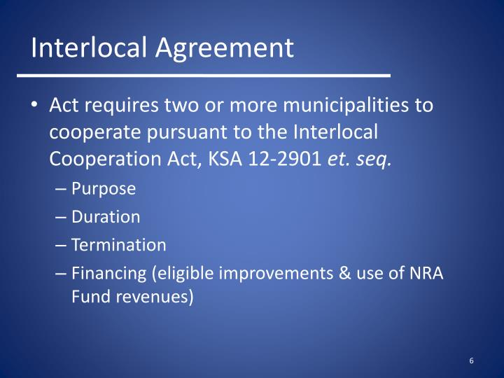 Act requires two or more municipalities to cooperate pursuant to the Interlocal Cooperation Act, KSA 12-2901