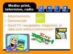 media print television radio