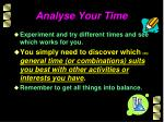 analyse your time