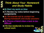think about your homework and study habits1