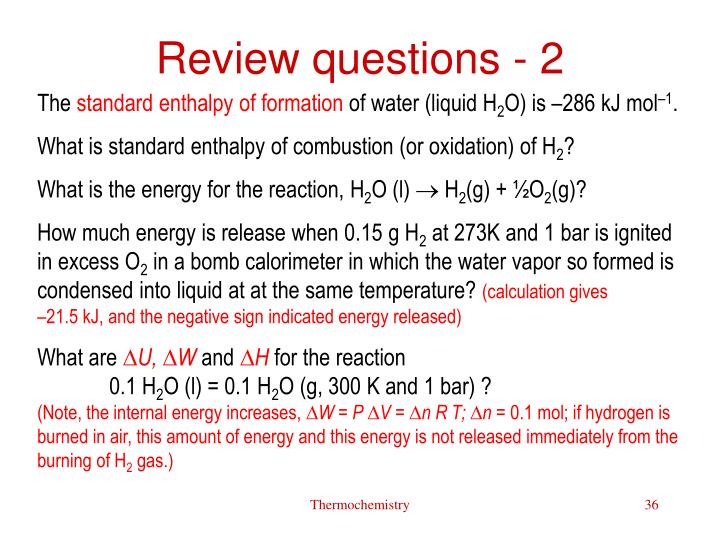 Review questions - 2
