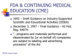 fda continuing medical education cme