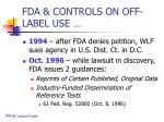 fda controls on off label use1