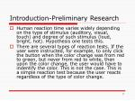 introduction preliminary research