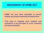 amendment of apmc act
