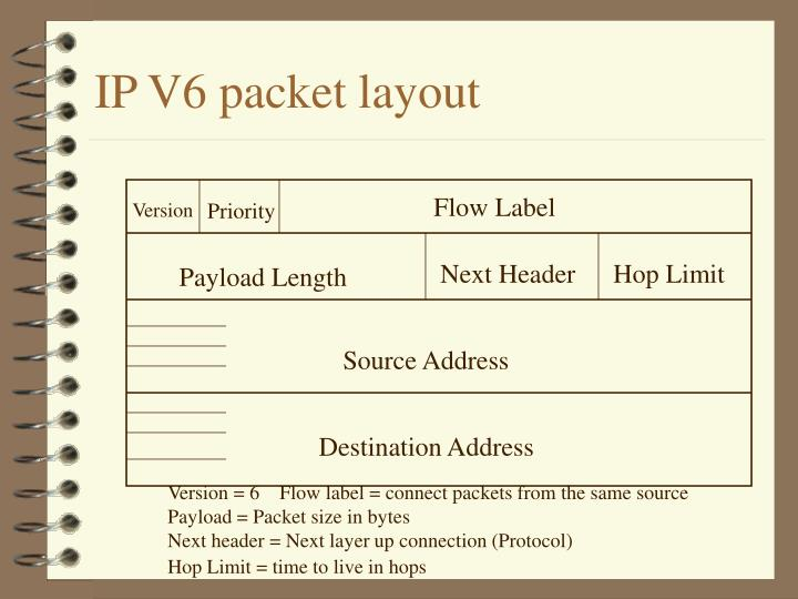 IP V6 packet layout