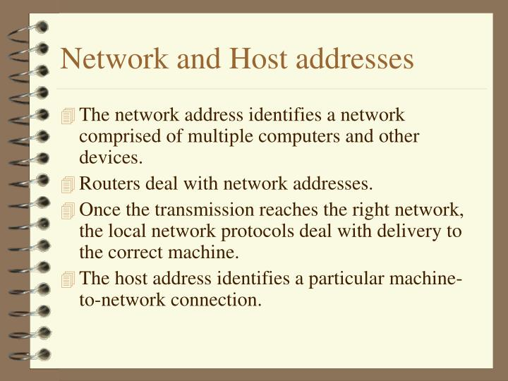 Network and Host addresses