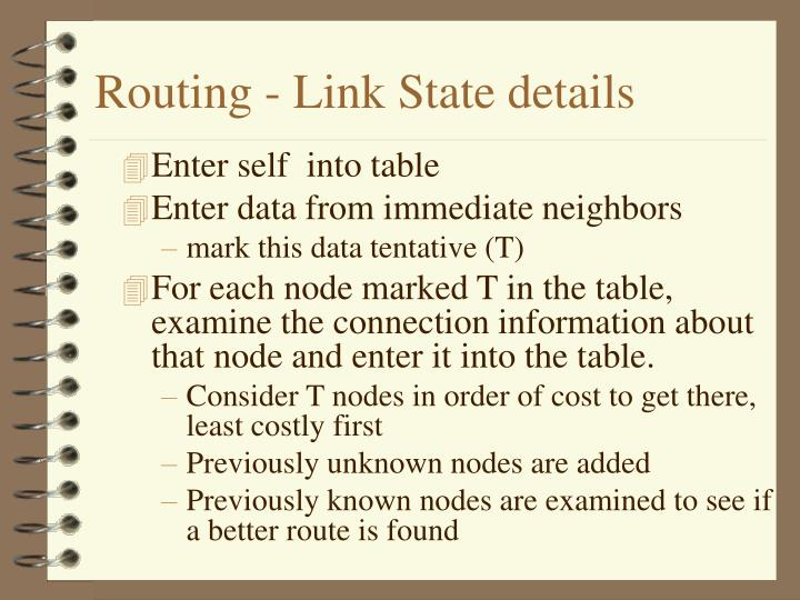 Routing - Link State details