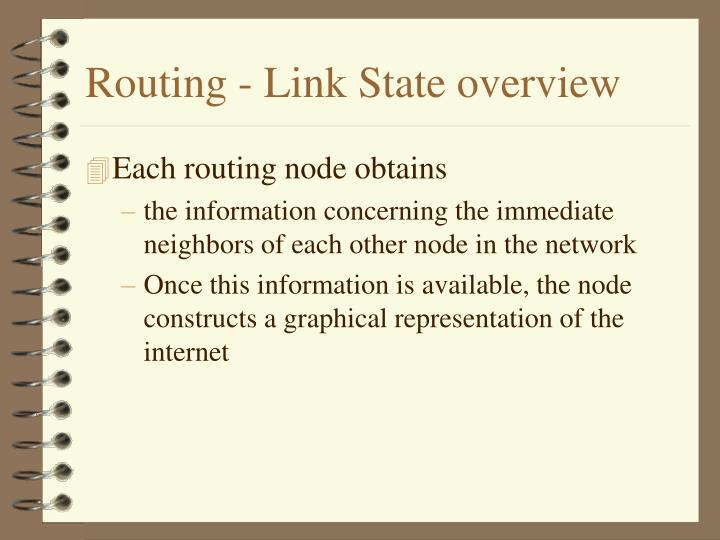 Routing - Link State overview