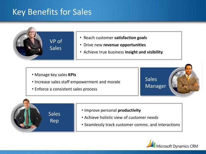 Key Benefits for Sales