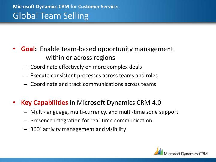 Microsoft Dynamics CRM for Customer Service: