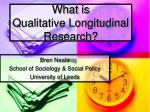 what is qualitative longitudinal research