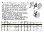 pinhole disk couplers from mcmaster carr