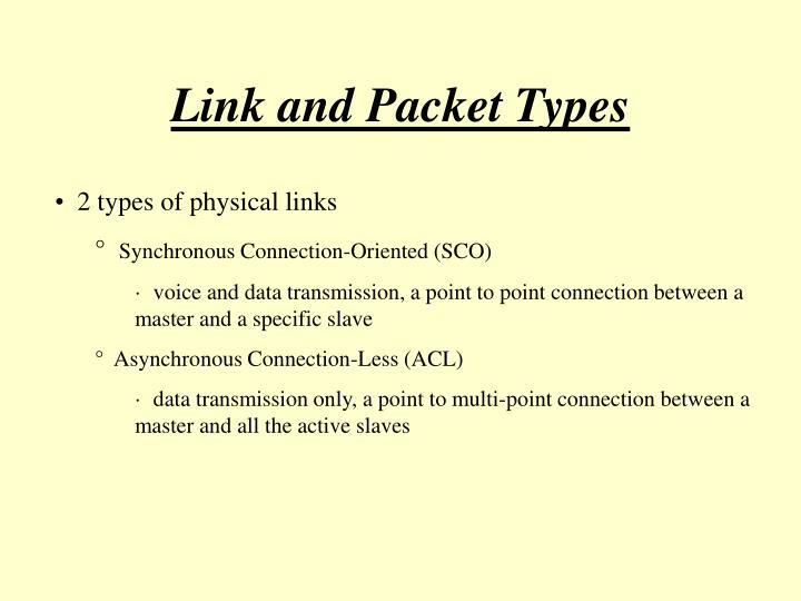 Link and Packet Types