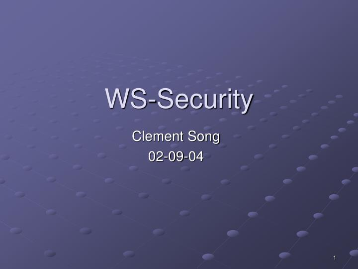 ws security n.