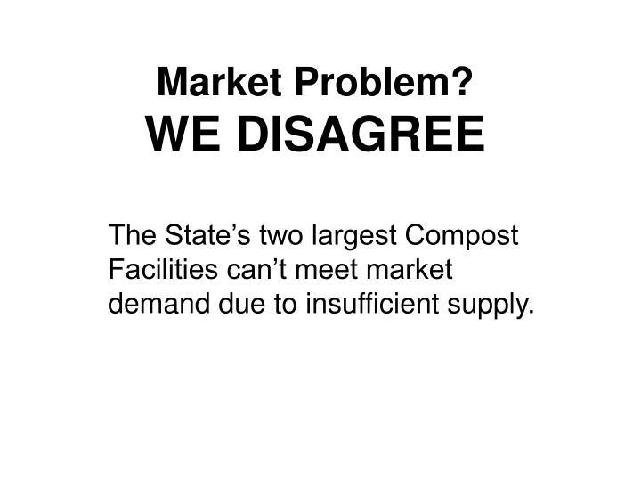 Market Problem?