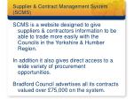 supplier contract management system scms