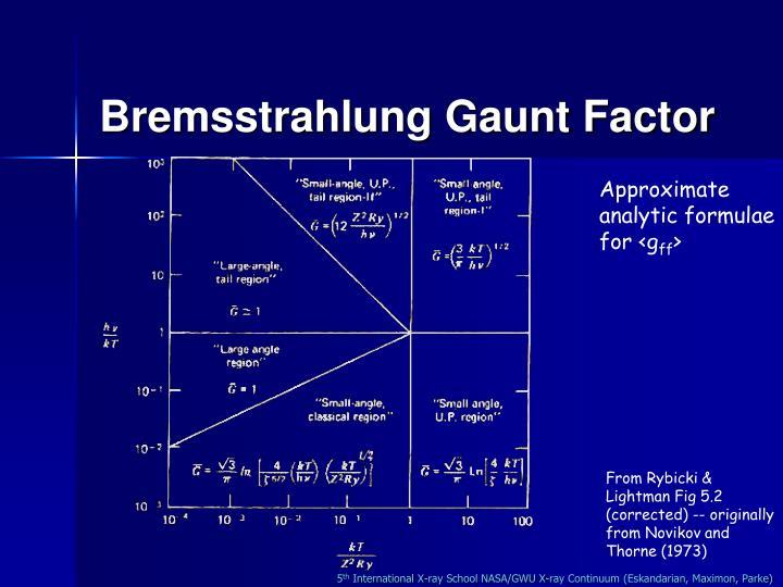 Bremsstrahlung Gaunt Factor