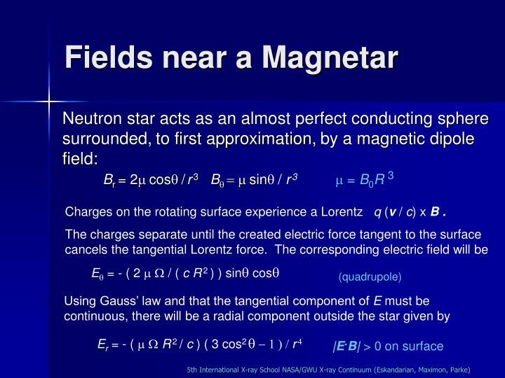 Fields near a Magnetar
