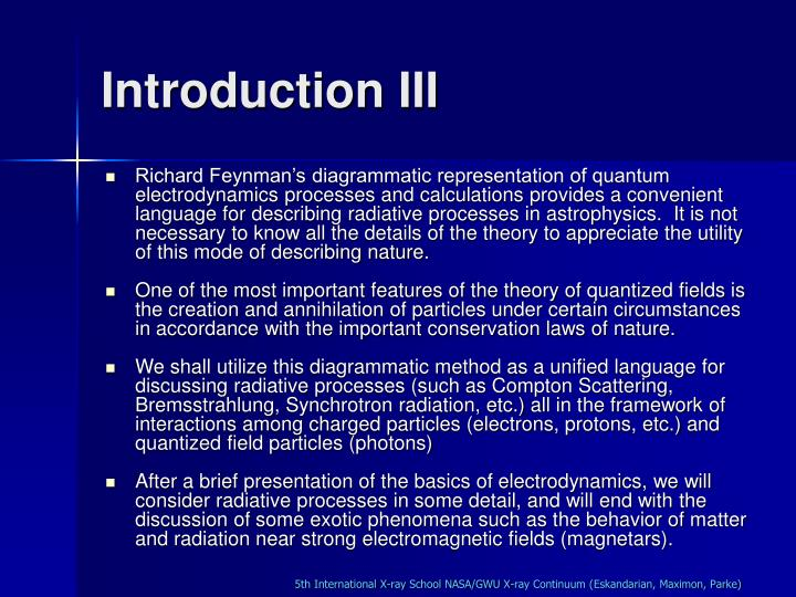 Introduction III