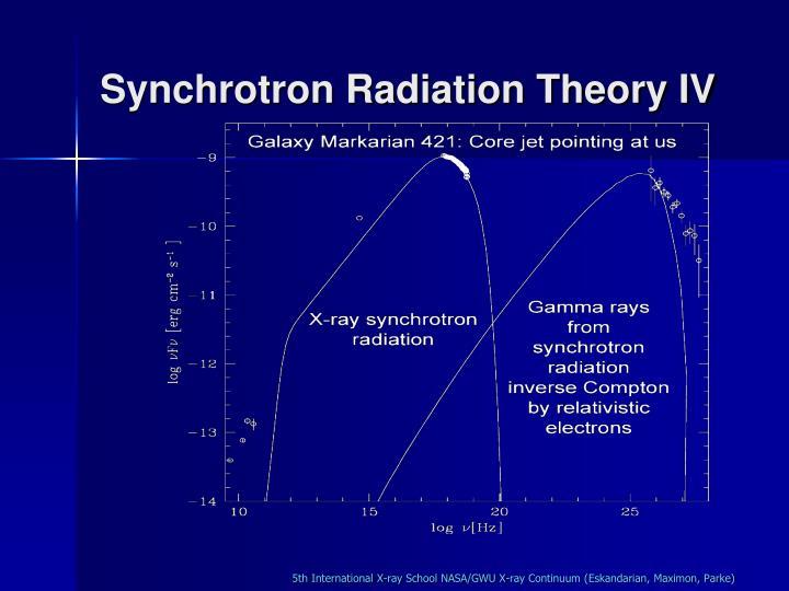 Synchrotron Radiation Theory IV