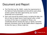 document and report