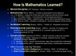 how is mathematics learned