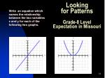 looking for patterns grade 8 level expectation in missouri