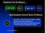 students can do basics