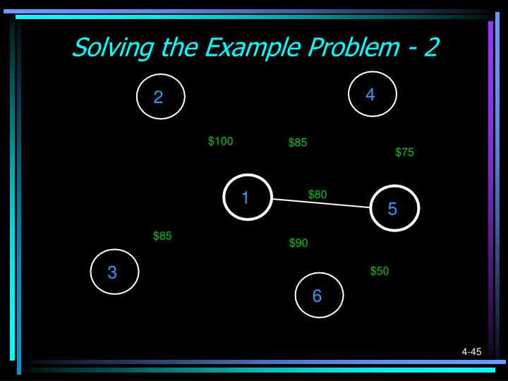 Solving the Example Problem - 2