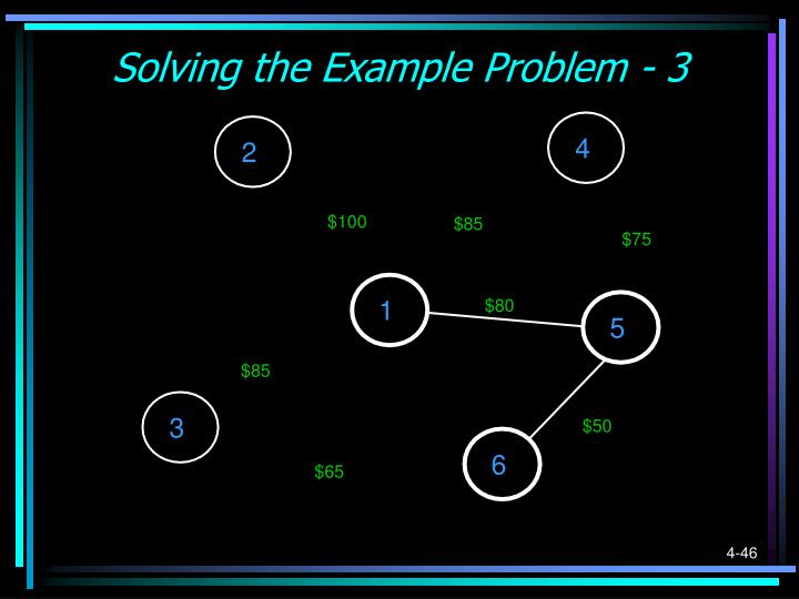 Solving the Example Problem - 3