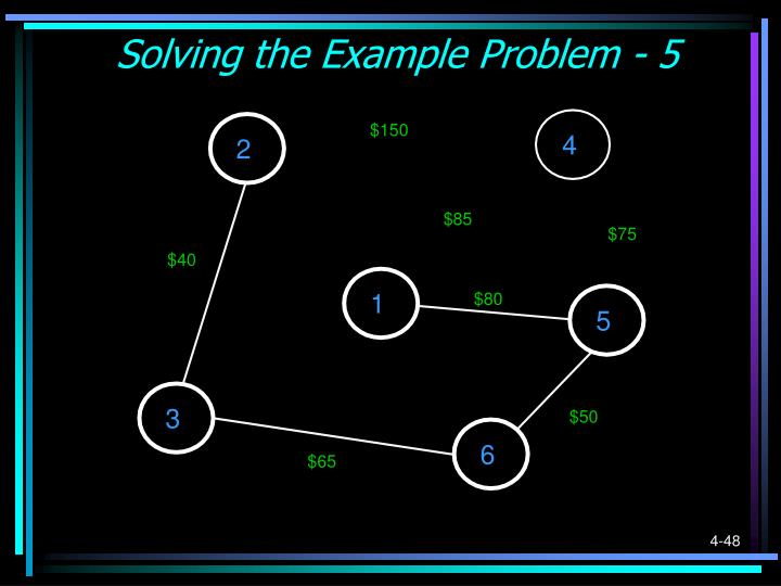 Solving the Example Problem - 5