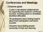 conferences and meetings1