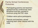 family school conferences outcomes