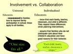 involvement vs collaboration2