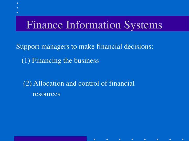 Finance Information Systems