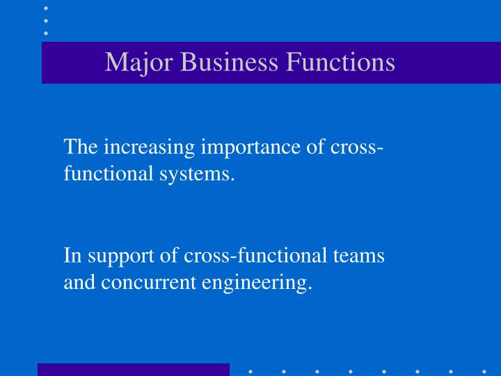 Major Business Functions