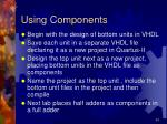 using components