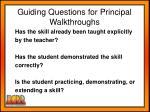 guiding questions for principal walkthroughs1