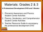 materials grades 2 3