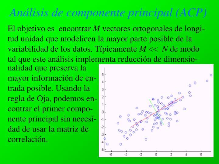 Análisis de componente principal (ACP)