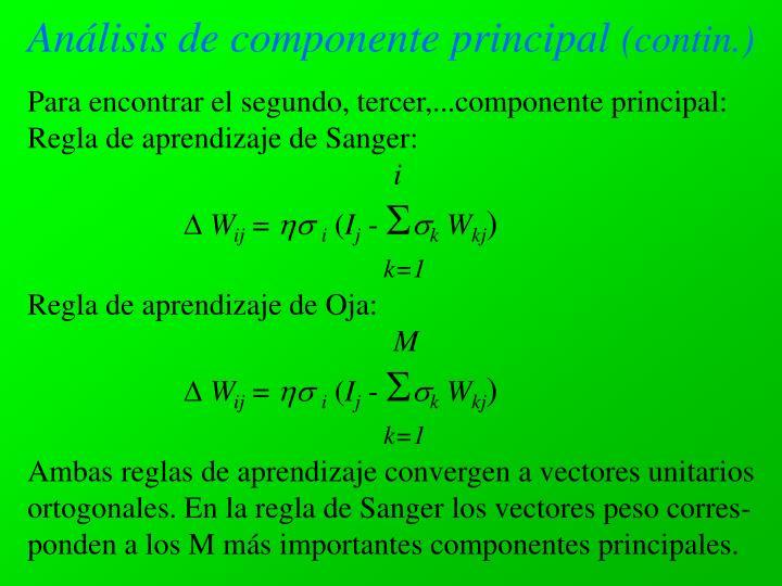 Análisis de componente principal
